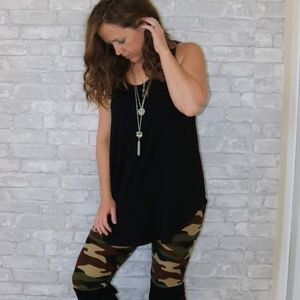 Pants - Plus Size Camo Capri Leggings